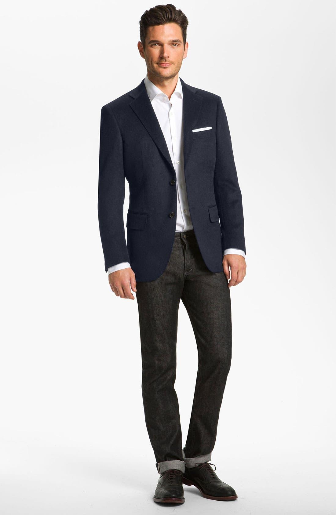 Alternate Image 1 Selected - John W. Nordstrom® Signature Cashmere Blazer