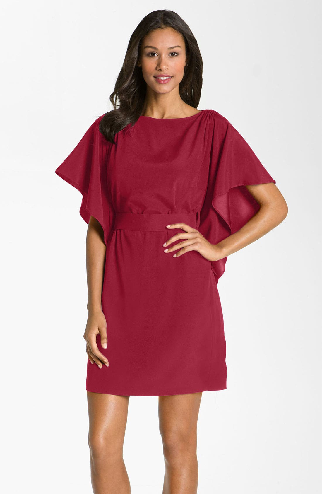 Alternate Image 1 Selected - Suzi Chin for Maggy Boutique Tie Waist Silk Dress