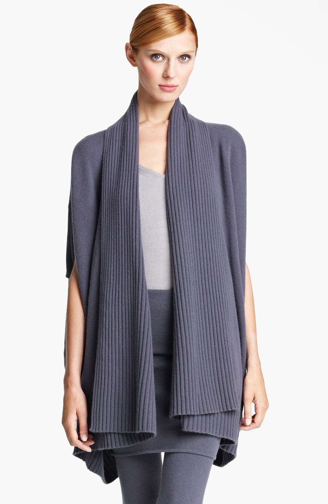 Alternate Image 1 Selected - Donna Karan Collection Draped Cashmere Cardigan