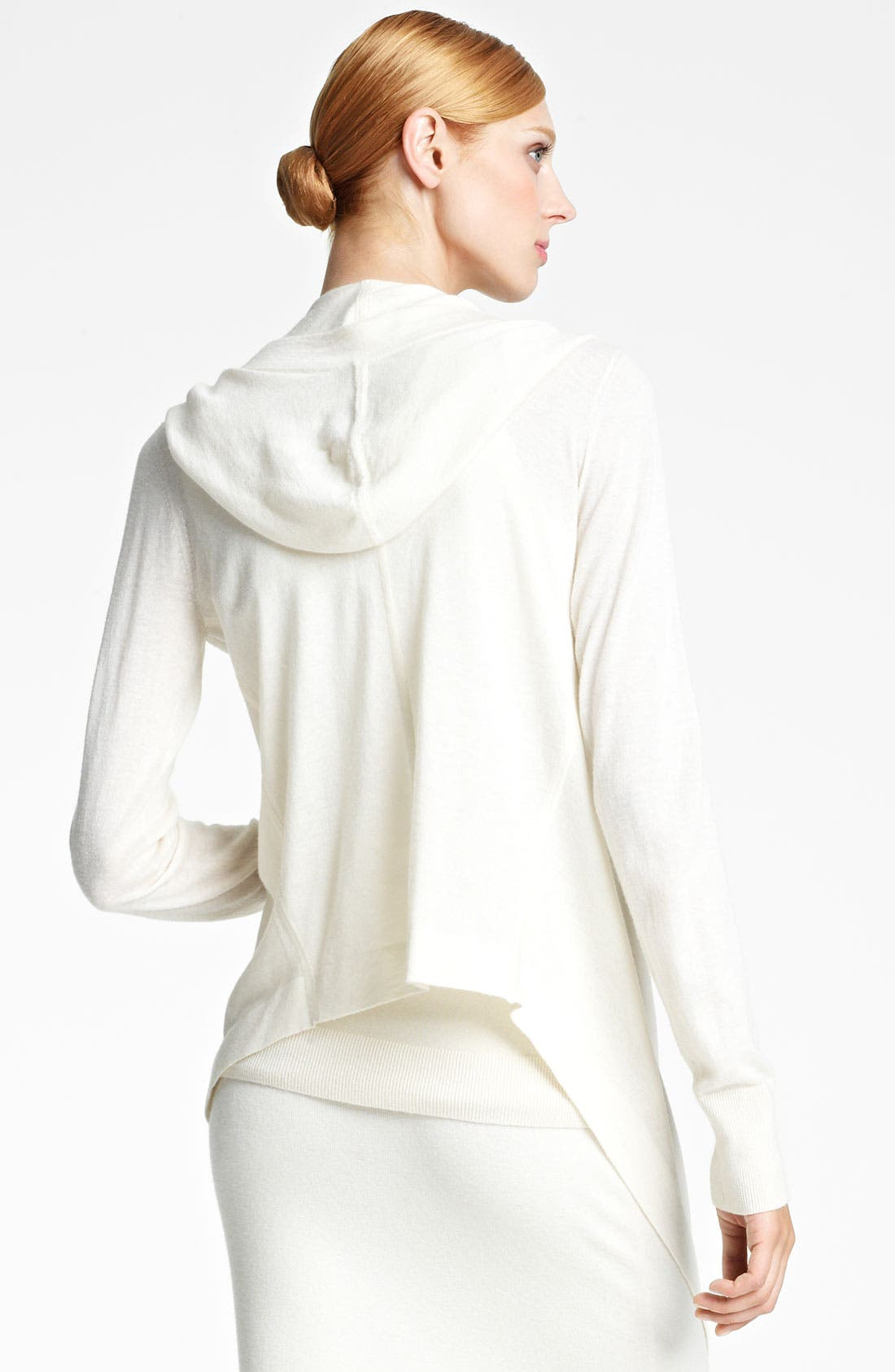 Alternate Image 2  - Donna Karan Collection Hooded Featherweight Cashmere Cozy