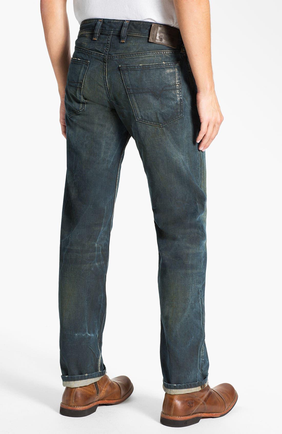 Alternate Image 1 Selected - DIESEL® 'Waykee' Straight Leg Jeans (0808H)