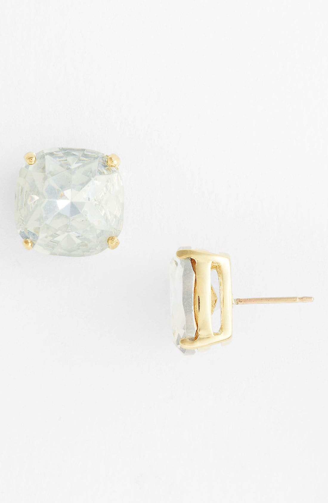 Alternate Image 1 Selected - kate spade new york mini small square semiprecious stone stud earrings