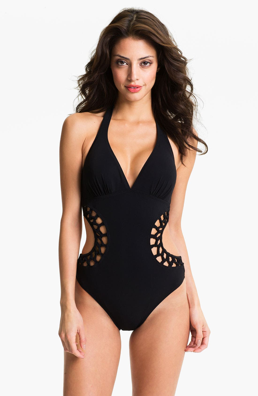 Main Image - Profile by Gottex V-Neck Halter Monokini