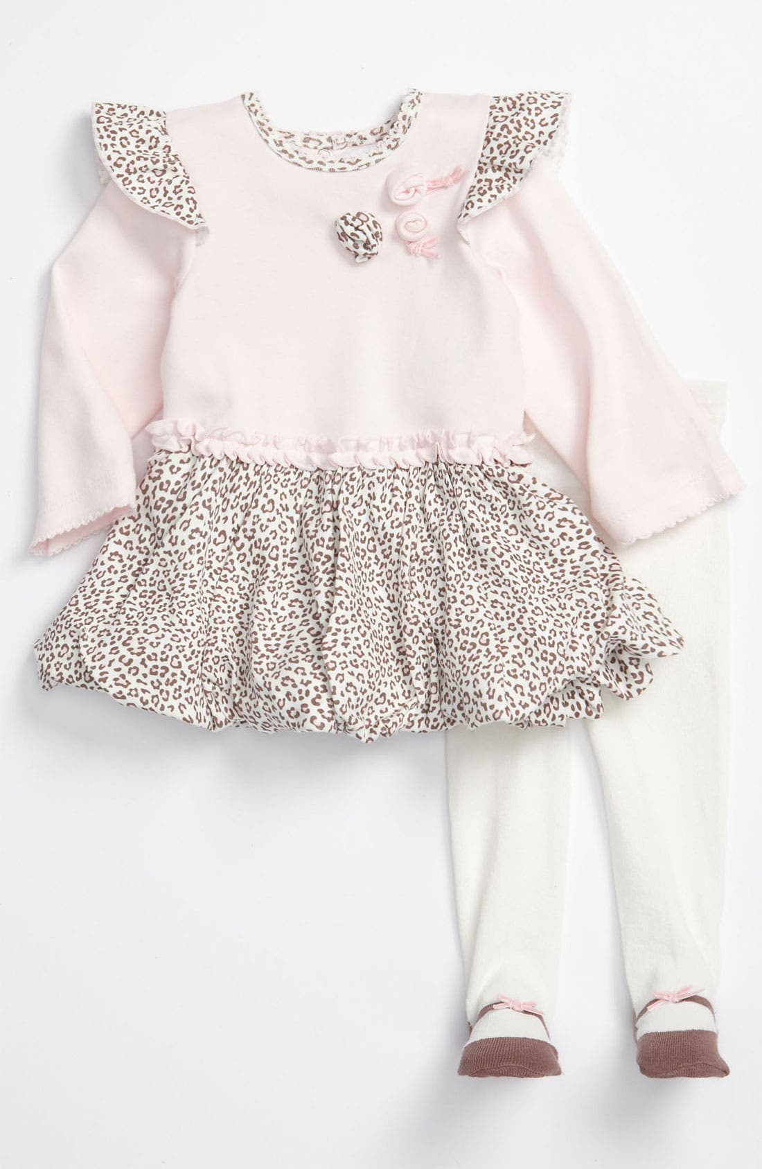 Main Image - Little Me Dress & Tights (Infant)
