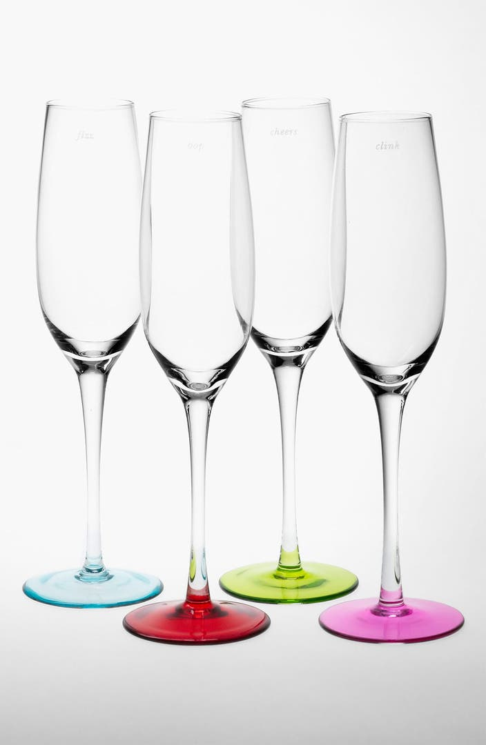 Kate Spade New York Colored Champagne Flutes Set Of 4