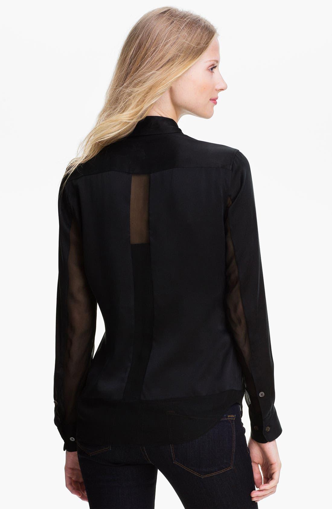Alternate Image 2  - Equipment 'Earl' Paneled Silk Shirt