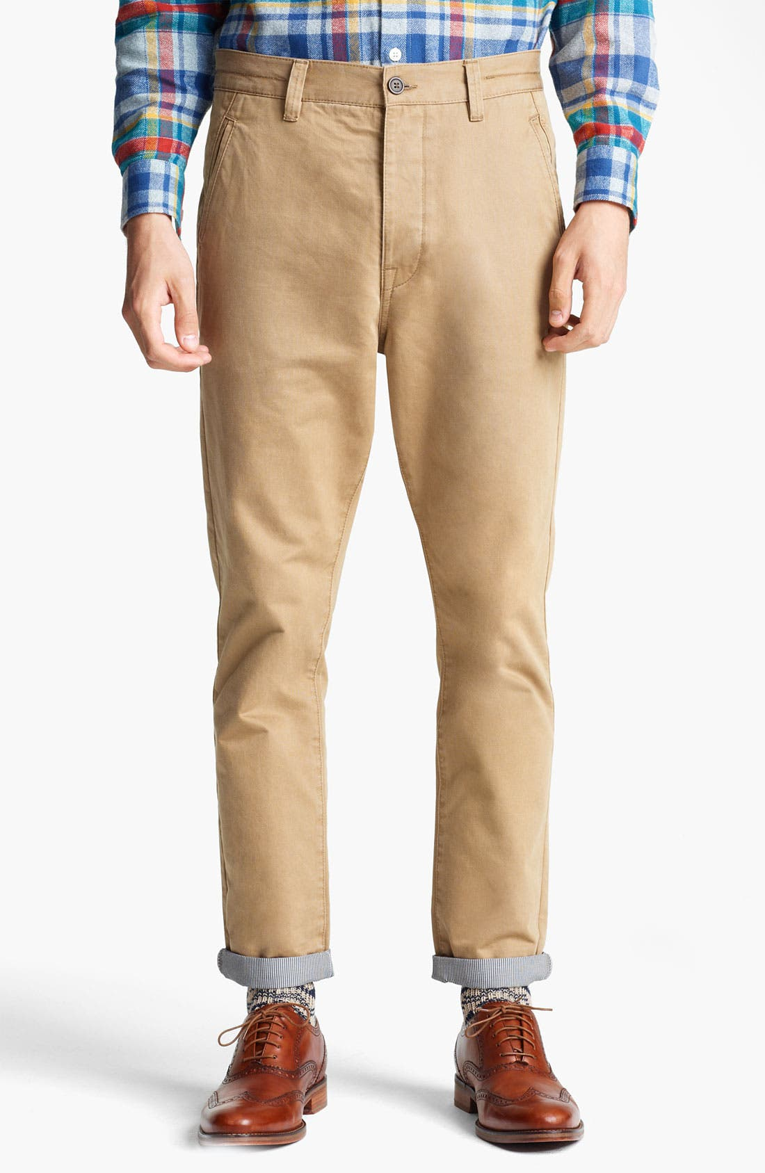 Alternate Image 1 Selected - Topman Carrot Skinny Fit Chinos