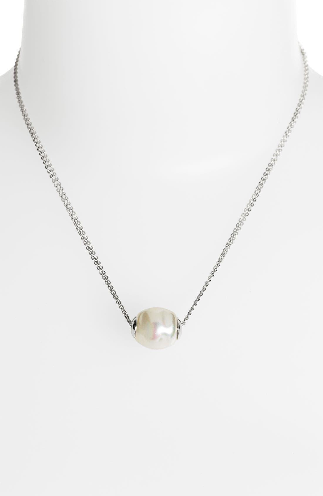 Main Image - Majorica 12mm Baroque Pearl Pendant Necklace