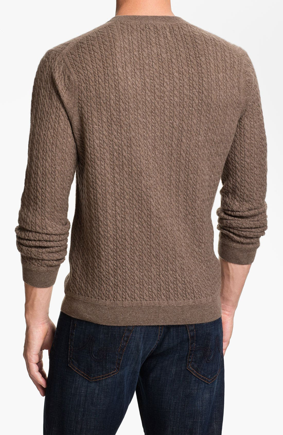 Alternate Image 2  - John W. Nordstrom® Cable Knit Cashmere Sweater