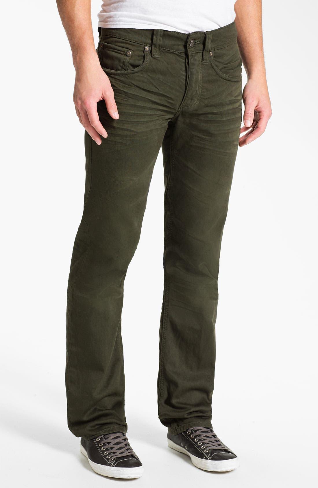 Alternate Image 2  - Stitch's Jeans Twill Straight Leg Pants