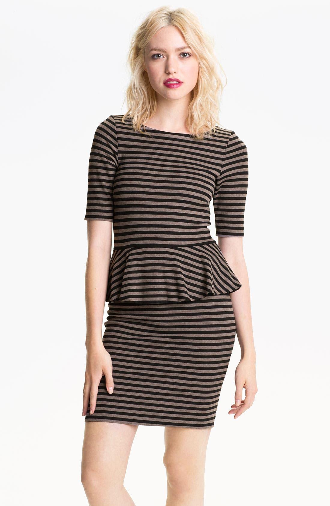 Alternate Image 1 Selected - Ella Moss 'Emily' Stripe Peplum Dress