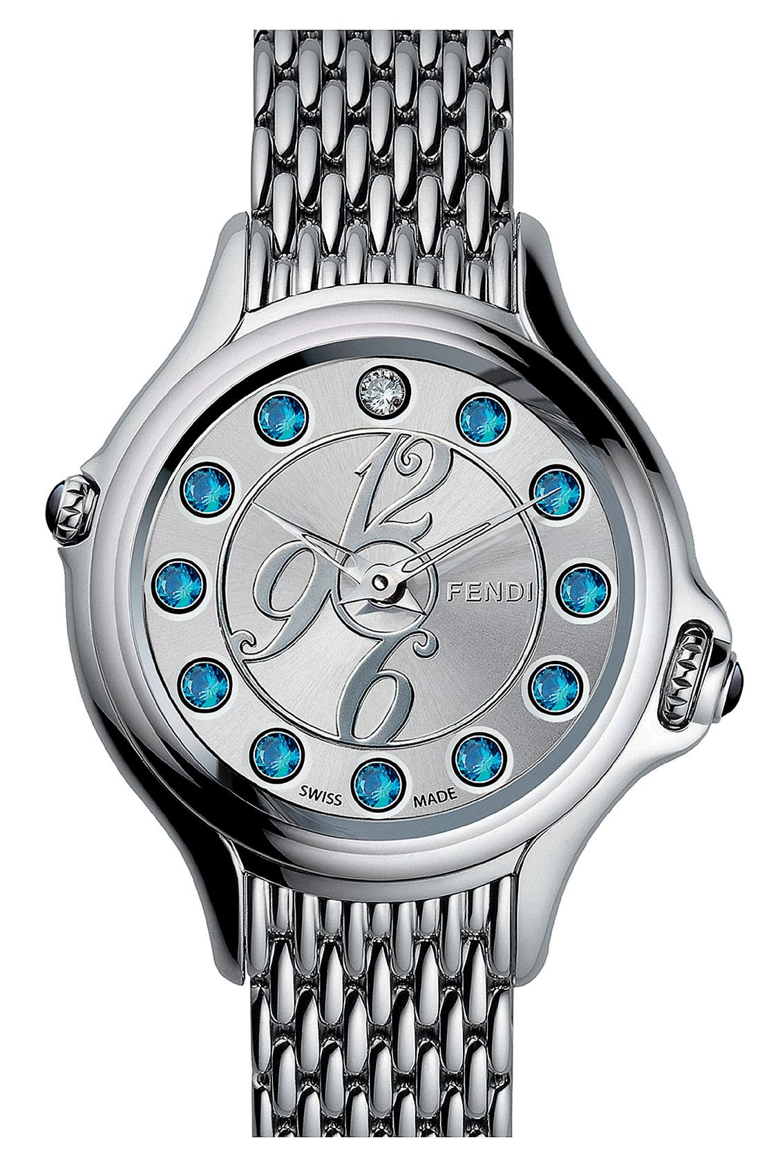 Alternate Image 1 Selected - Fendi 'Crazy Carats' Bracelet Watch, 38mm