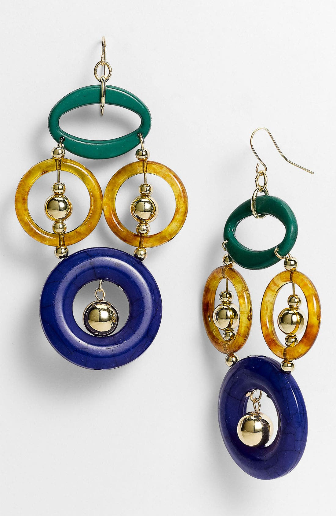 Alternate Image 1 Selected - Spring Street Design Group Multicolor Resin Earrings