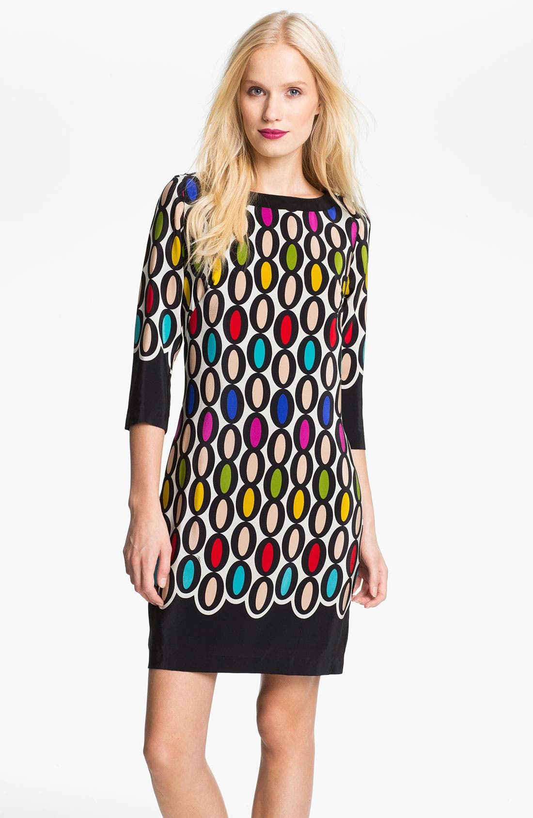 Alternate Image 1 Selected - Trina Turk 'Ronson' Silk Shift Dress