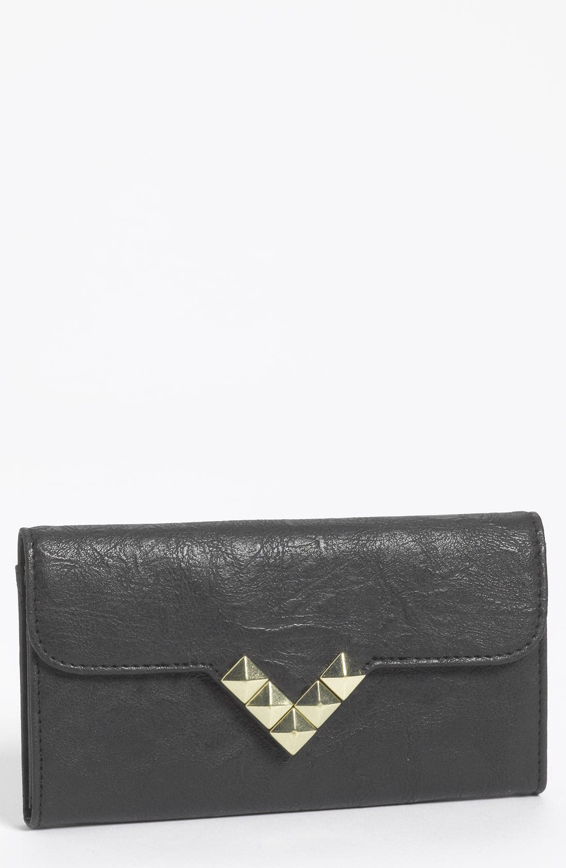 Alternate Image 1 Selected - Lulu Studded Faux Leather Flap Wallet