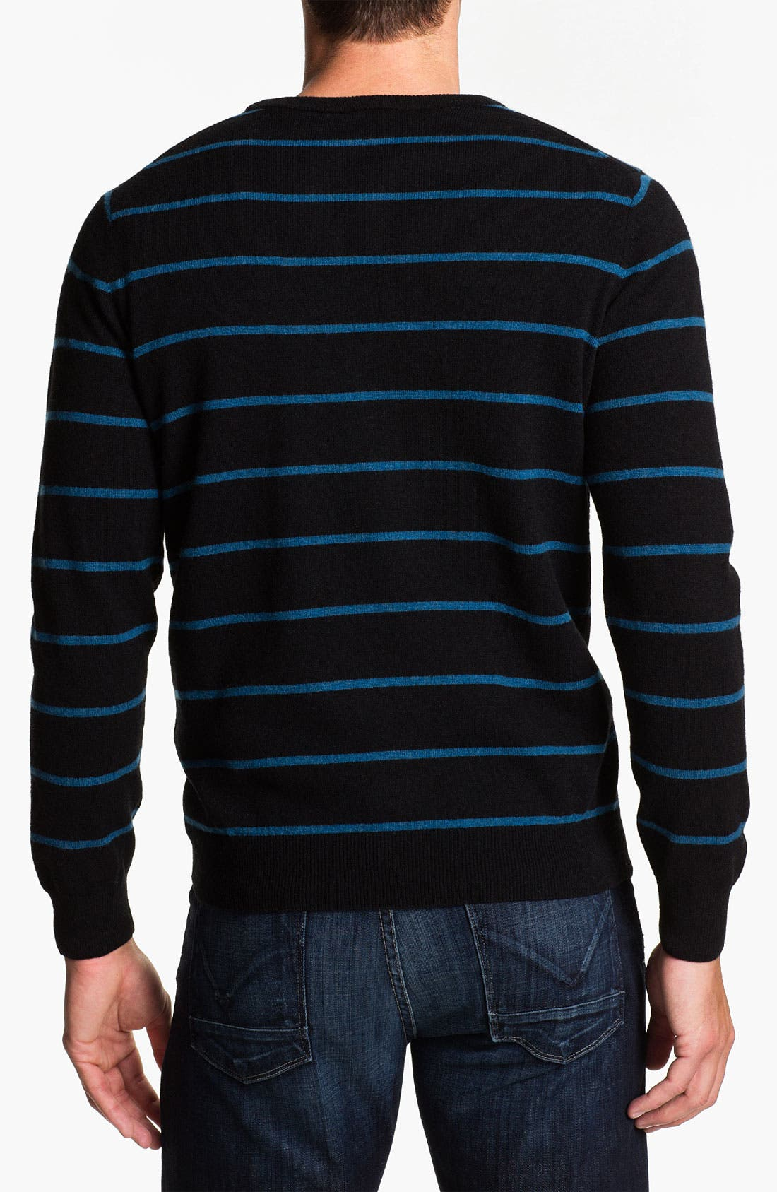 Alternate Image 2  - Lacoste Stripe Wool Crewneck Sweater