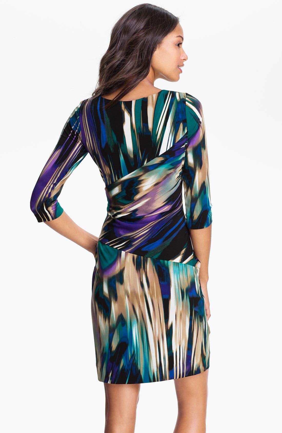 Alternate Image 2  - Calvin Klein Printed Side Tie Jersey Dress