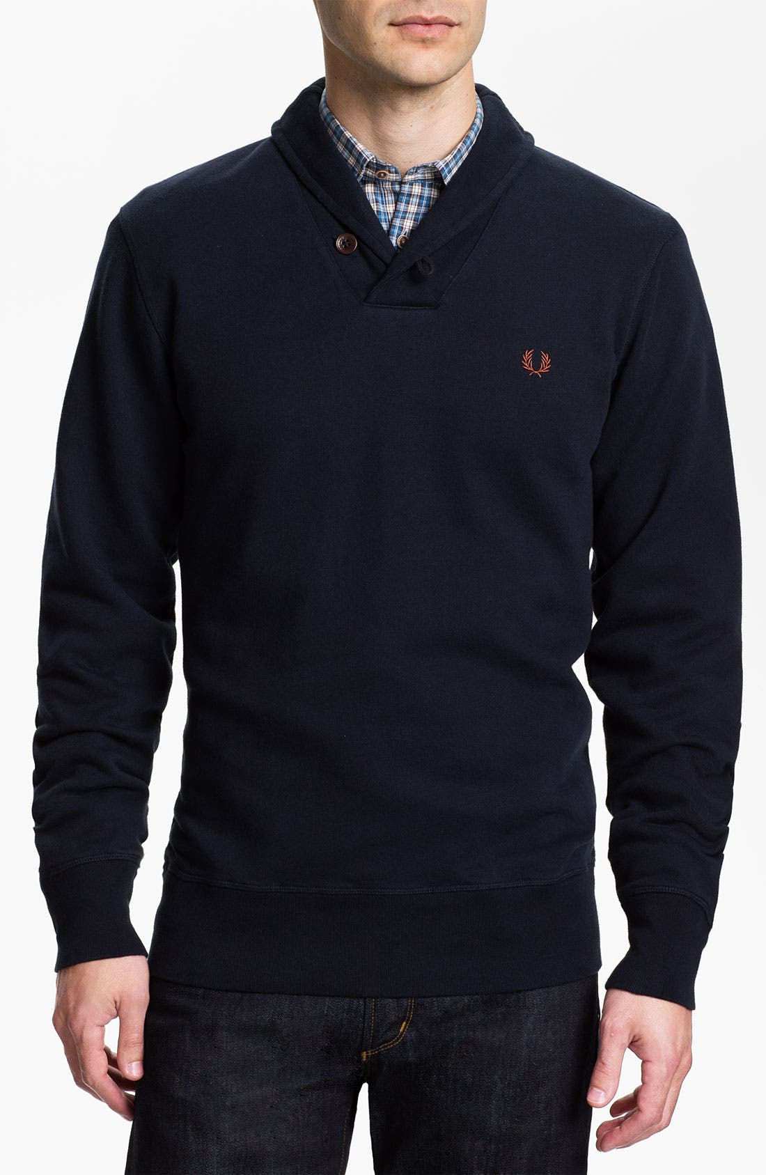 Main Image - Fred Perry Shawl Collar Pullover