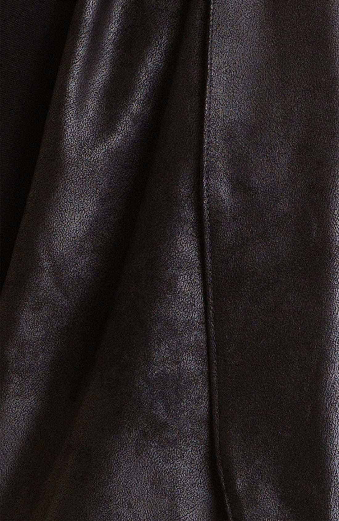 Alternate Image 3  - Velvet by Graham & Spencer Drape Faux Leather Jacket