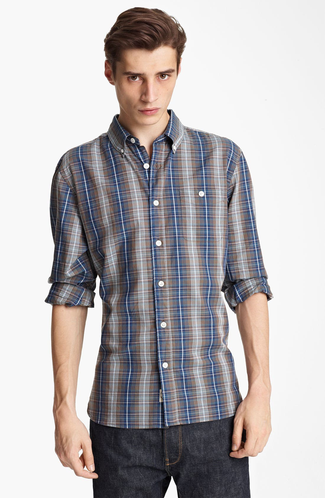 Main Image - Todd Snyder Plaid Woven Shirt