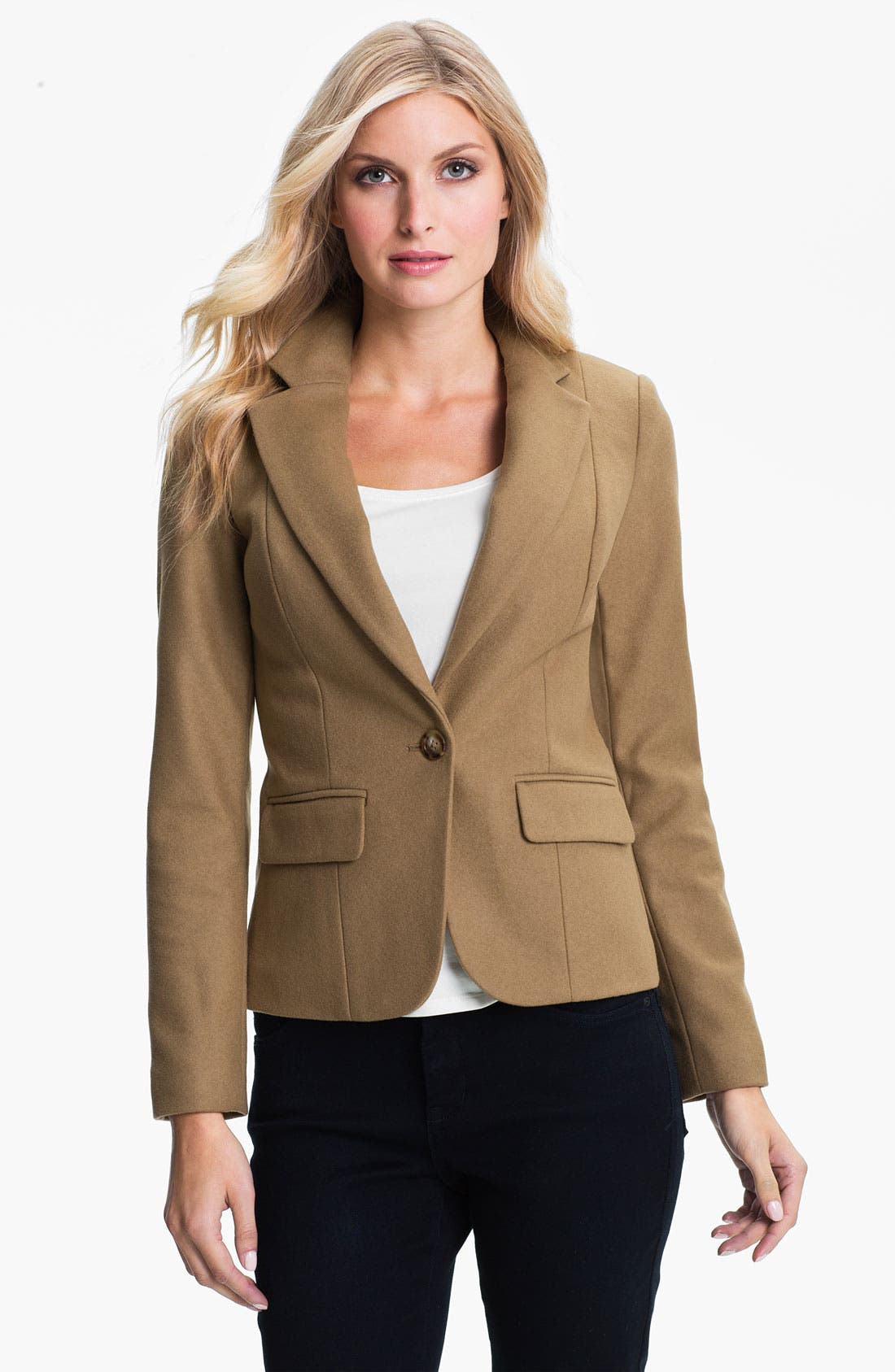 Alternate Image 1 Selected - MICHAEL Michael Kors One Button Wool Blend Blazer