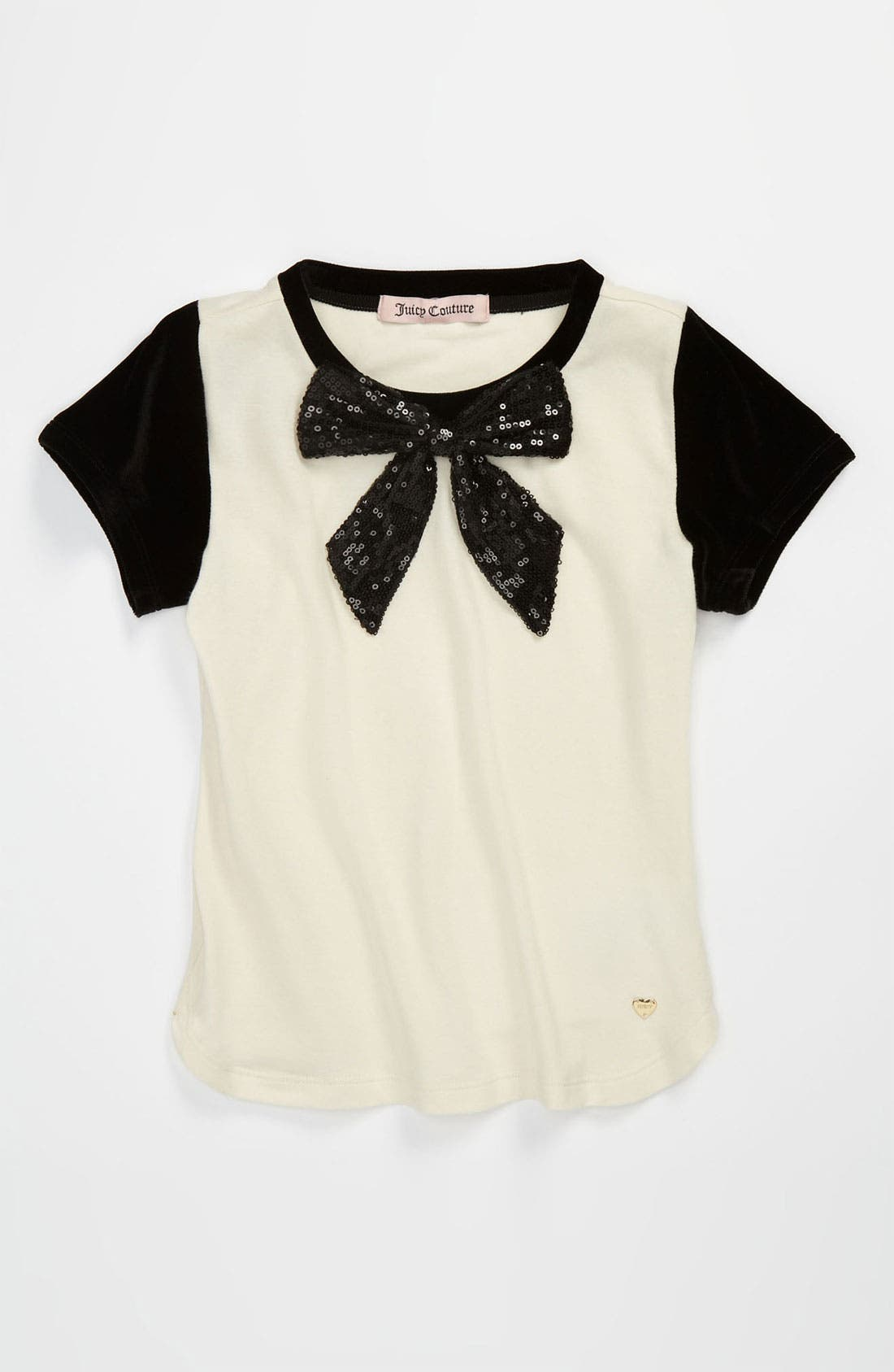 Alternate Image 1 Selected - Juicy Couture 'Fashion Bow' Top (Little Girls & Big Girls)