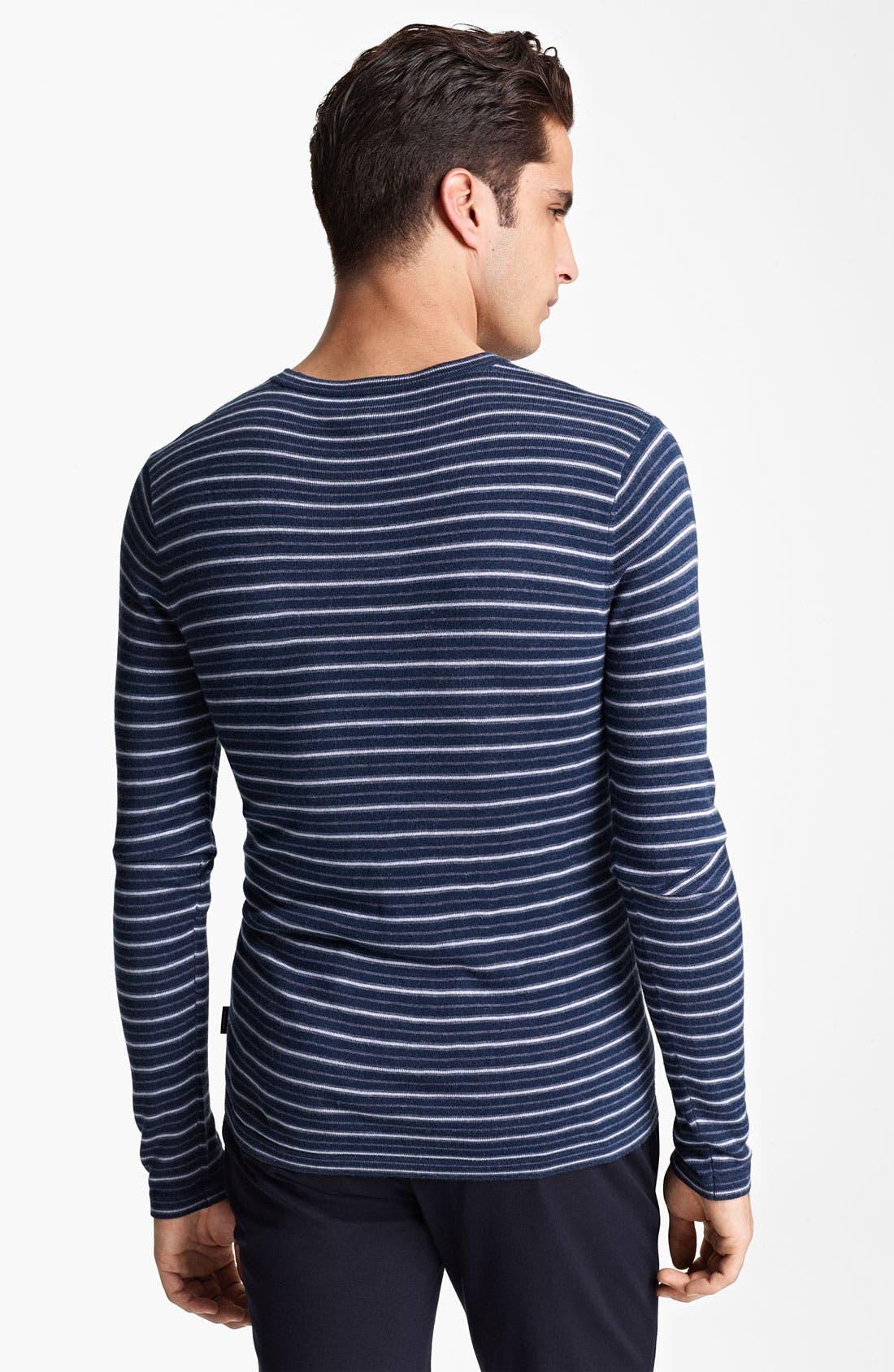 Alternate Image 2  - Armani Collezioni Stripe Crewneck Sweater
