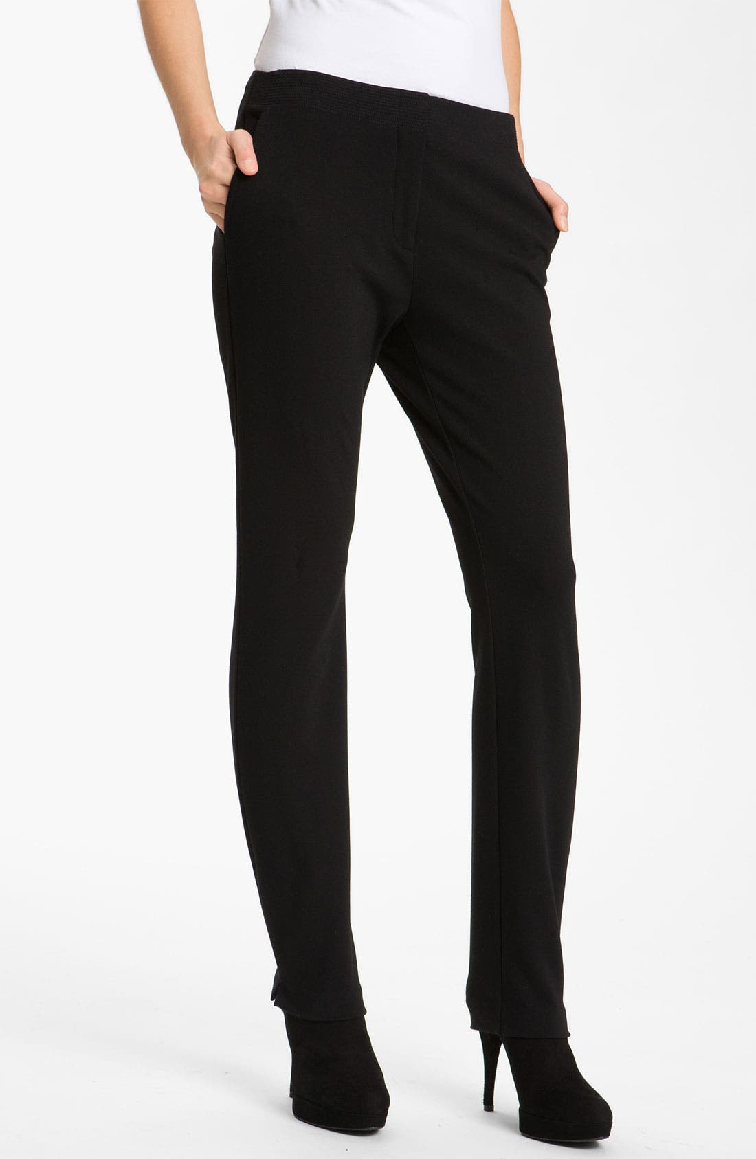 Main Image - Eileen Fisher Slim Ponte Knit Pants (Petite)