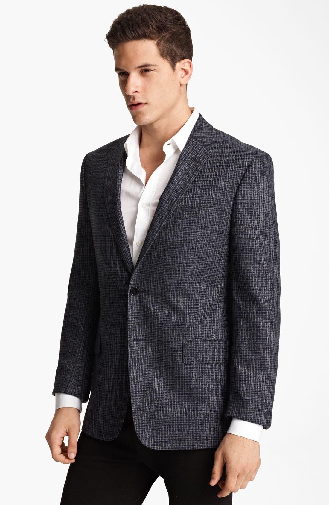 Main Image - Versace Trim Fit Check Blazer