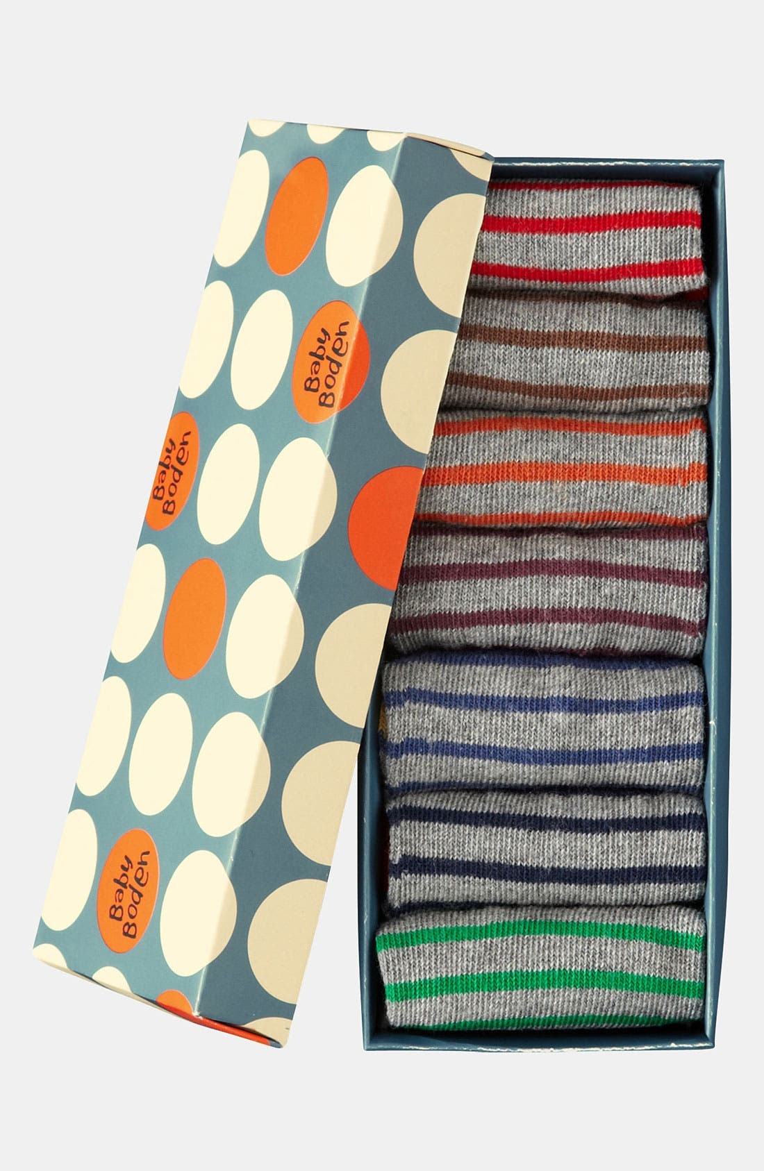 Alternate Image 1 Selected - Mini Boden Socks (7-Pack) (Infant & Toddler)