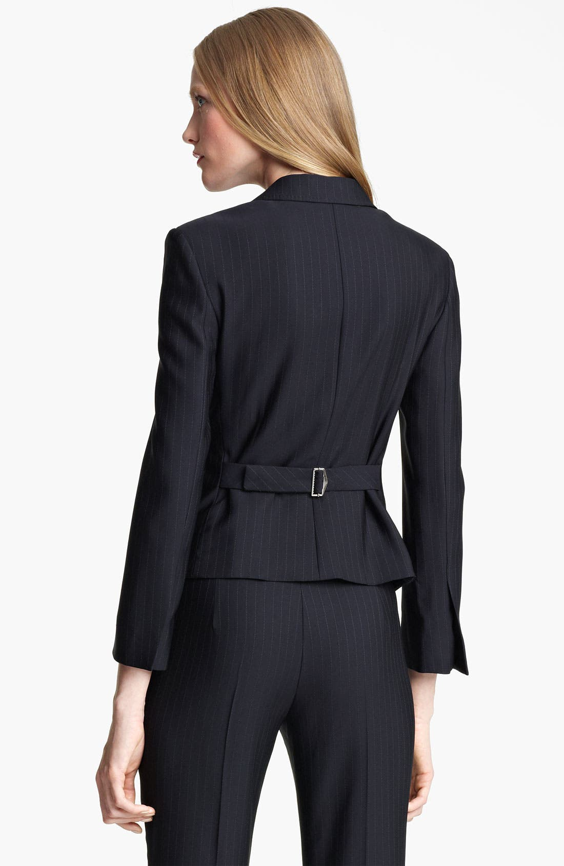 Alternate Image 2  - Armani Collezioni Pinstripe Jacket with Attached Vest