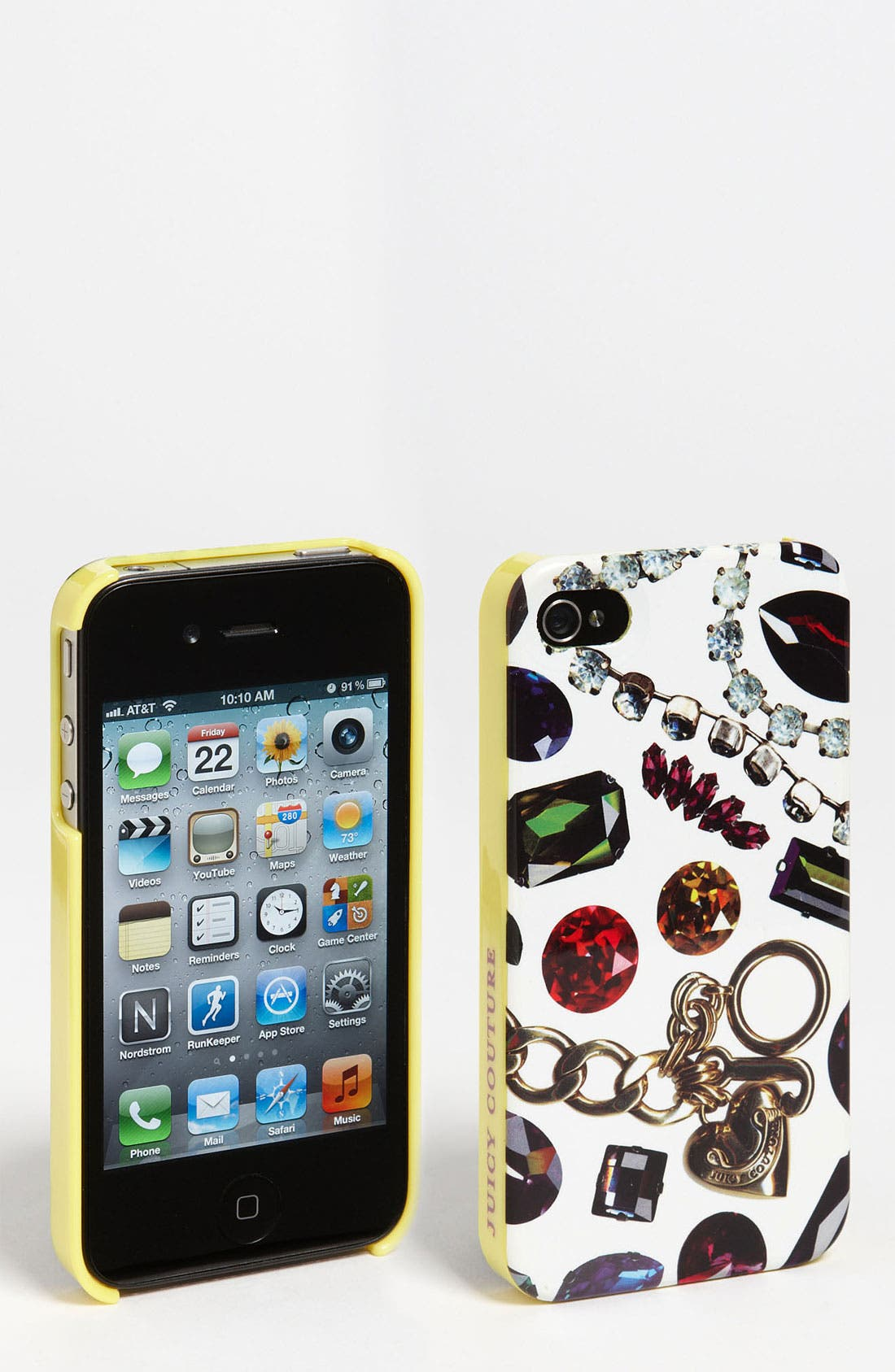 Main Image - Juicy Couture 'White Gem Print' iPhone 4 & 4S Case