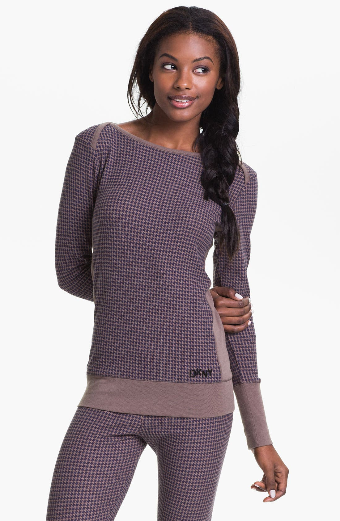 Alternate Image 1 Selected - DKNY Banded Base Layer Top