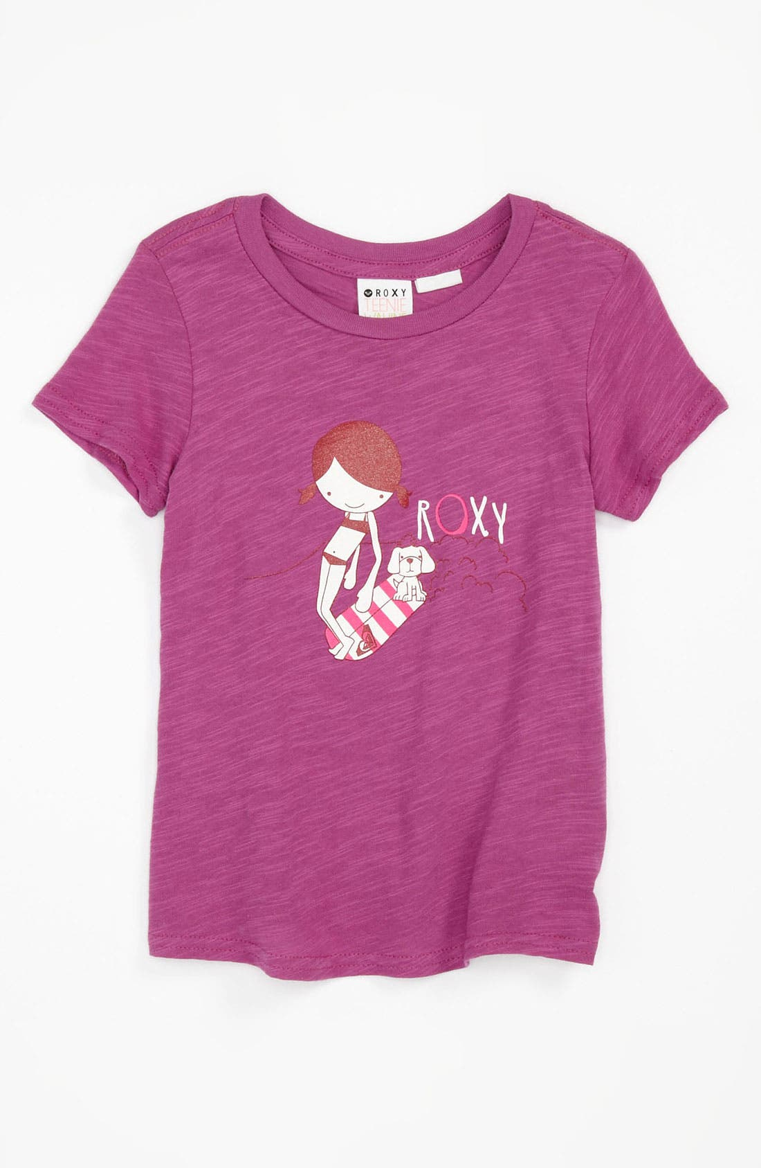 Alternate Image 1 Selected - Roxy 'Hanging With Friends' Slub Knit Tee (Little Girls)