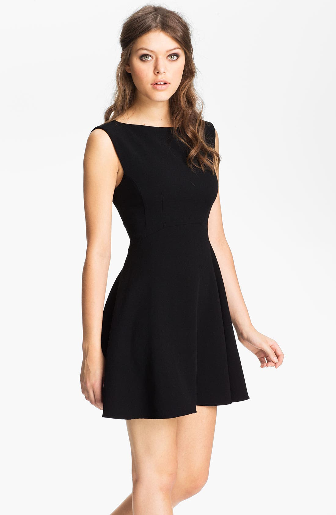 Main Image - French Connection Extended Sleeve Ponte Fit & Flare Dress