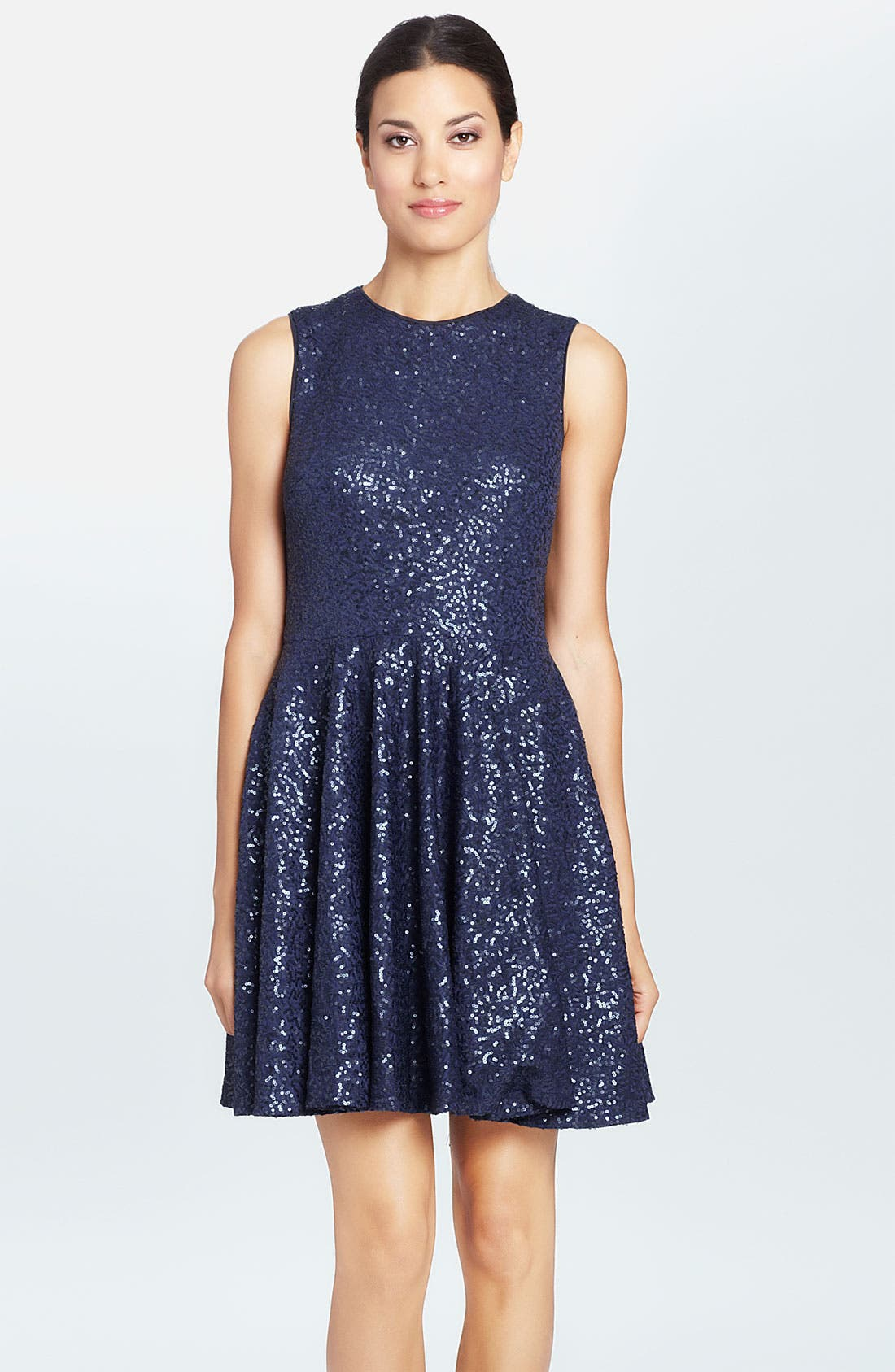 Alternate Image 1 Selected - Cynthia Steffe 'Sabella' Sequin Fit & Flare Dress