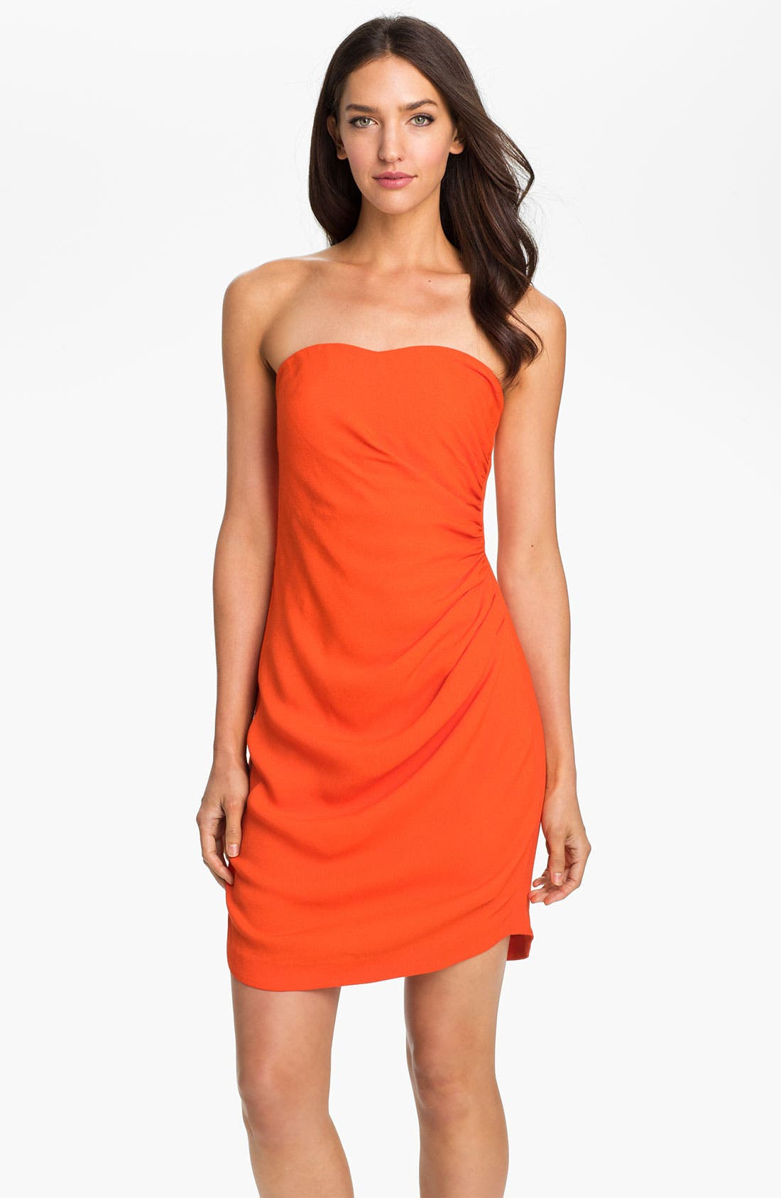 Alternate Image 1 Selected - Rebecca Taylor Strapless Crepe Dress