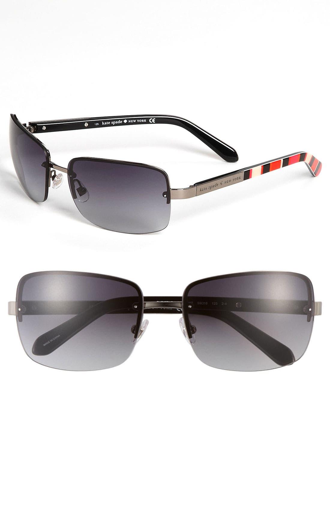 Main Image - kate spade new york 'christa' 59mm rimless sunglasses