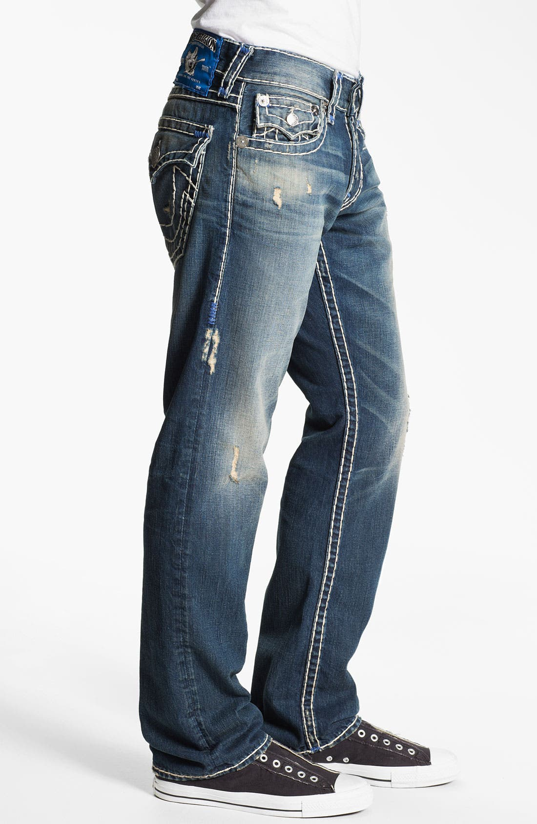 Alternate Image 3  - True Religion Brand Jeans 'Ricky' Straight Leg Jeans (Old Country)