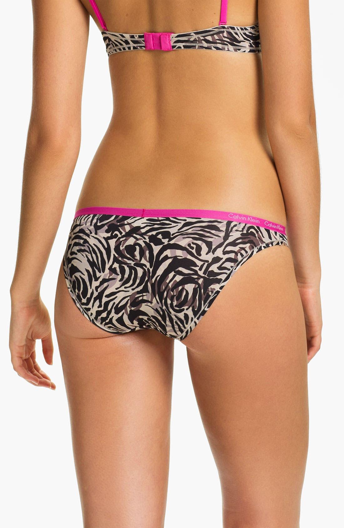 Alternate Image 2  - Calvin Klein Microfiber Bikini