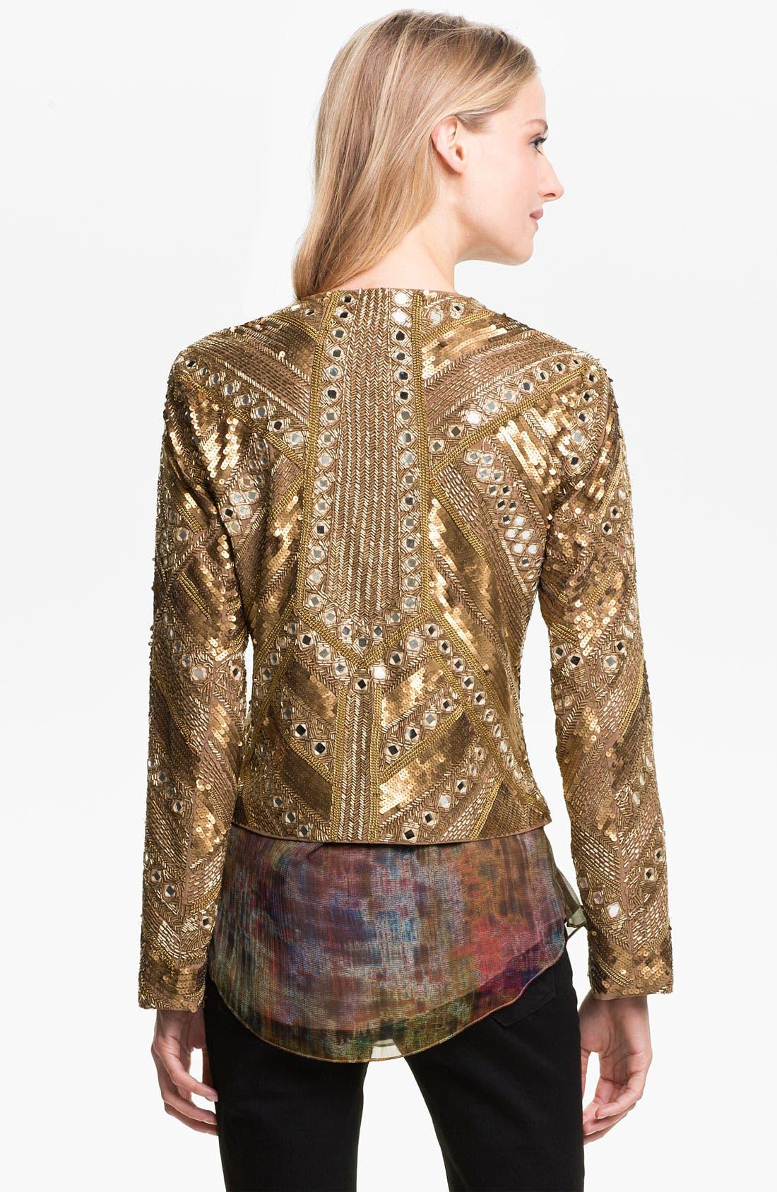 Alternate Image 2  - Haute Hippie Embellished Silk Jacket