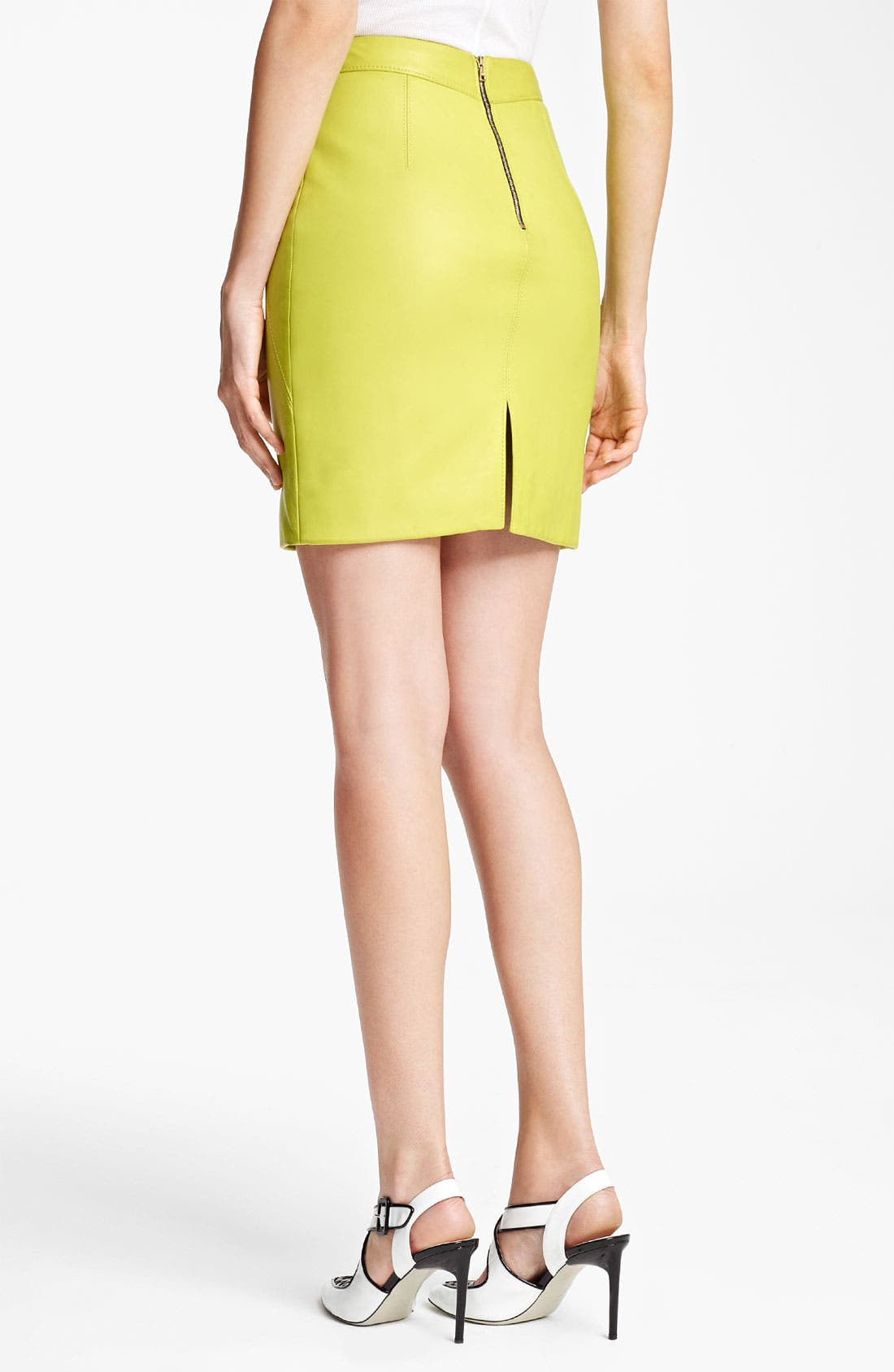 Alternate Image 2  - Jason Wu Nappa Leather Pencil Skirt