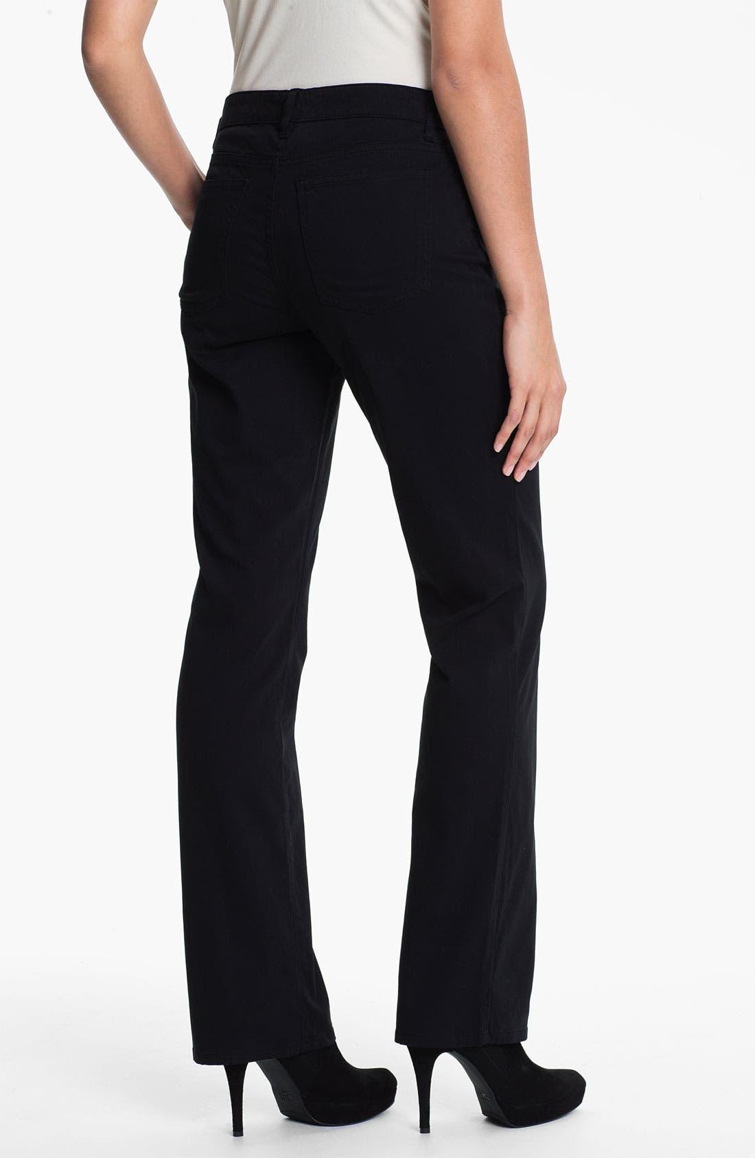 Alternate Image 2  - Eileen Fisher Straight Leg Stretch Jeans
