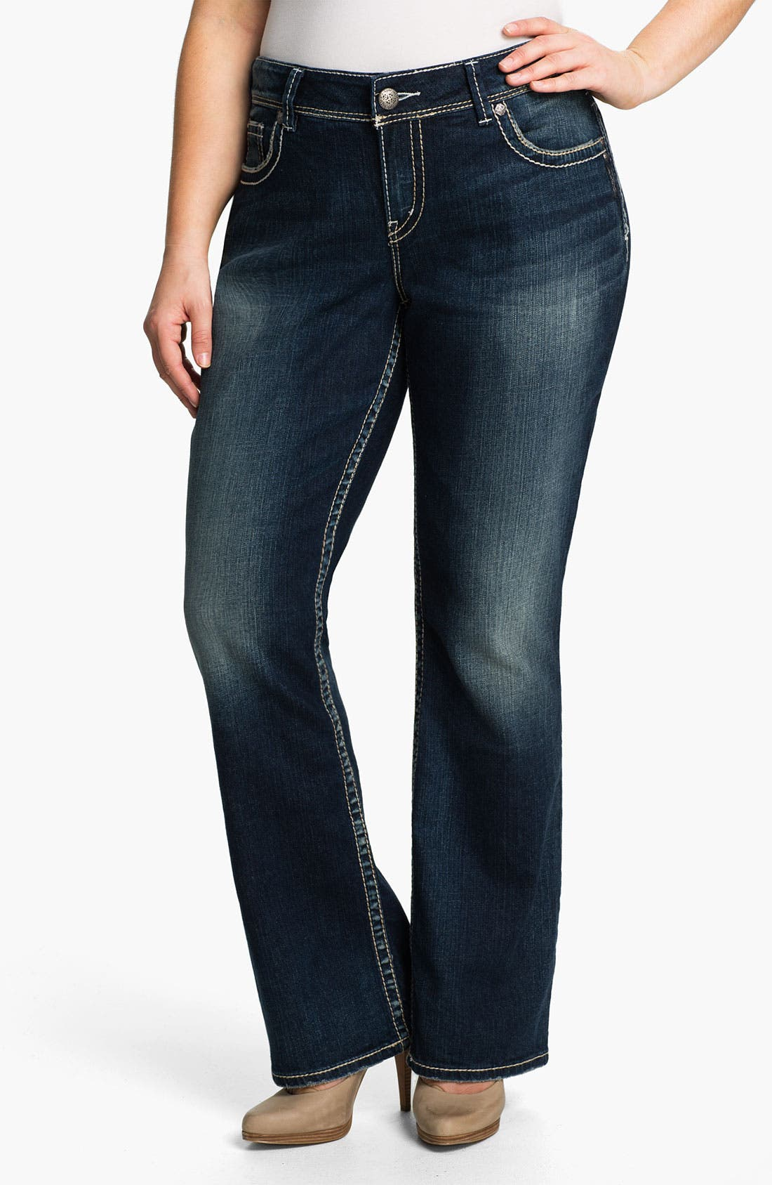 Alternate Image 1 Selected - Silver Jeans Co. 'Suki' Bootcut Jeans (Plus)