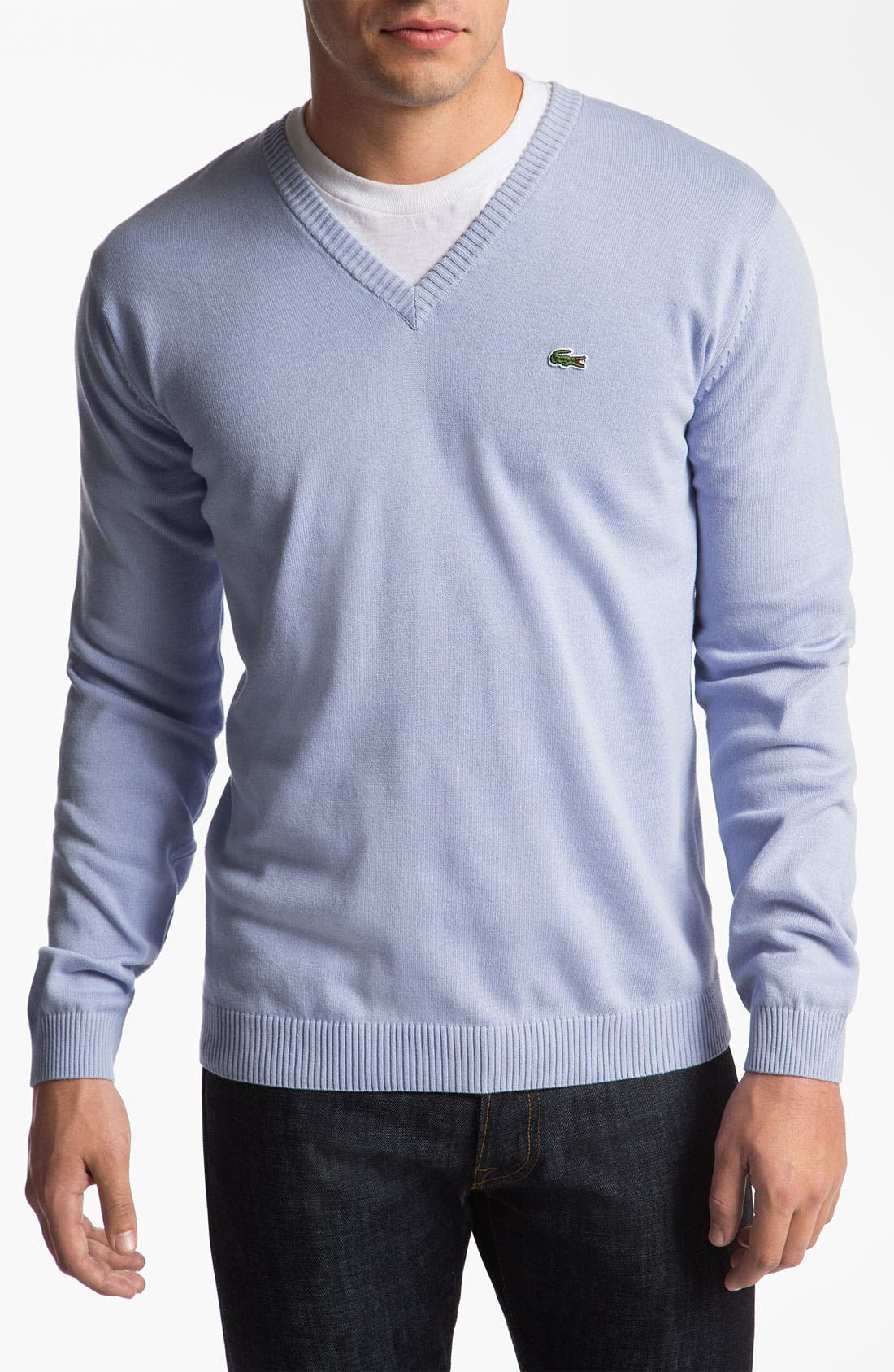 Alternate Image 1 Selected - Lacoste 'Classic' V-Neck Sweater