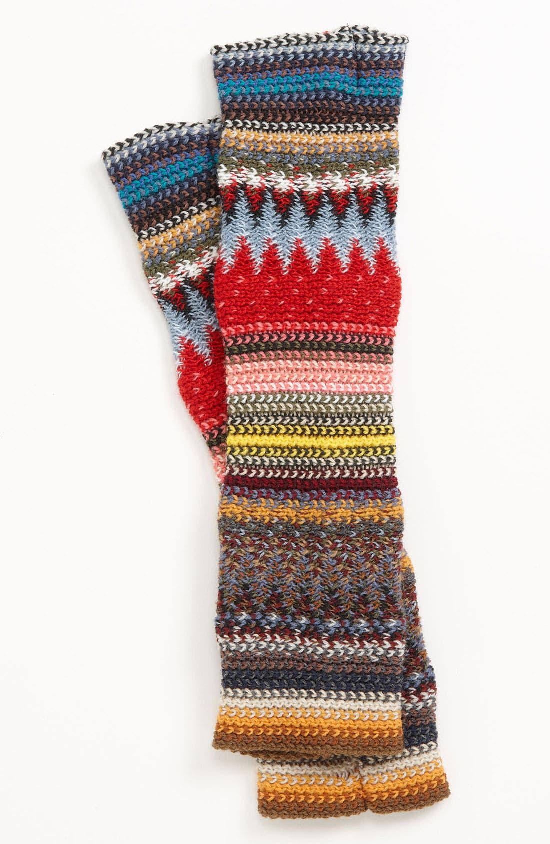 Alternate Image 1 Selected - Lulu Bright Stripe Arm Warmers