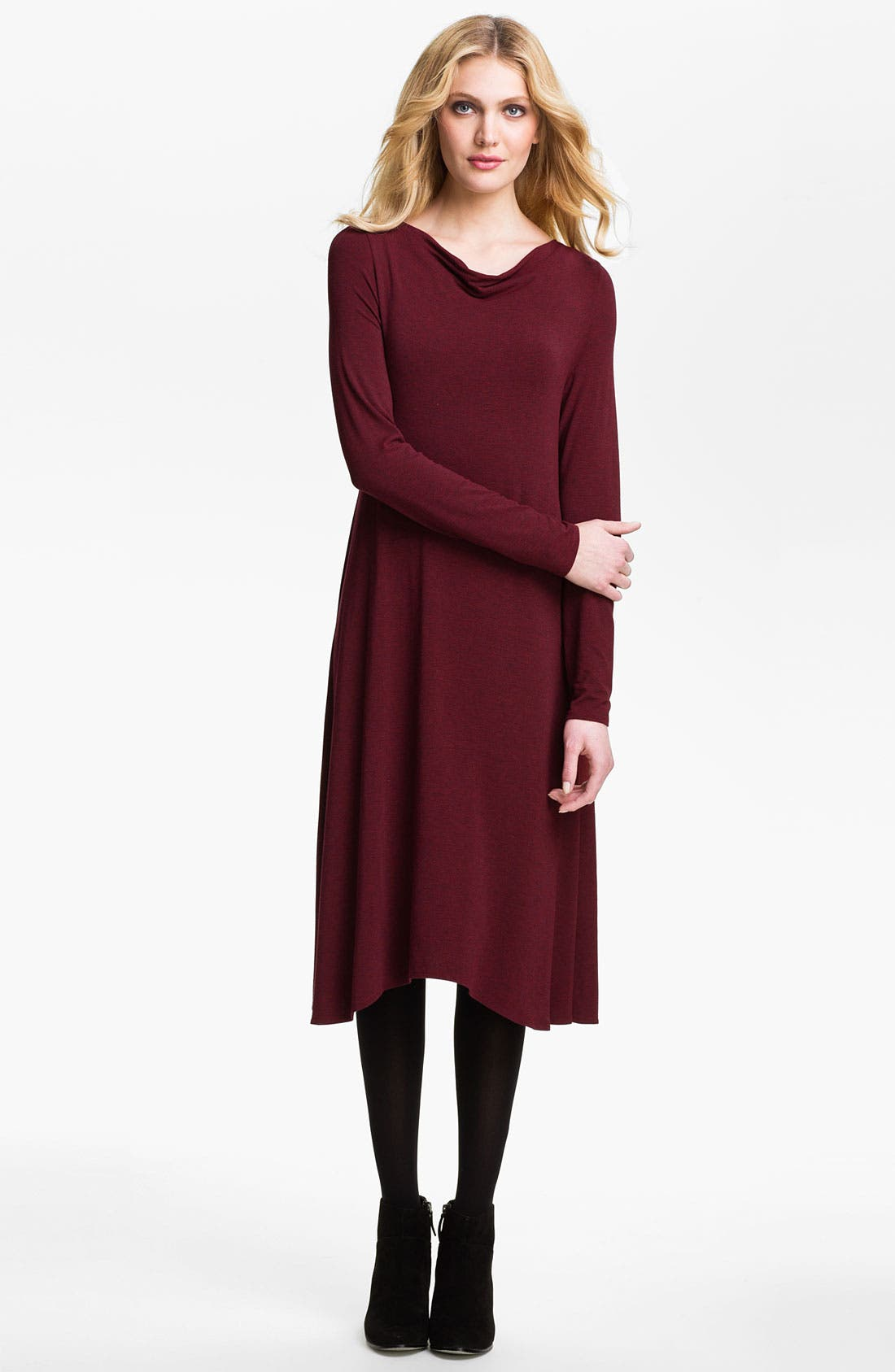 Main Image - Eileen Fisher Drape Neck Dress (Online Exclusive)