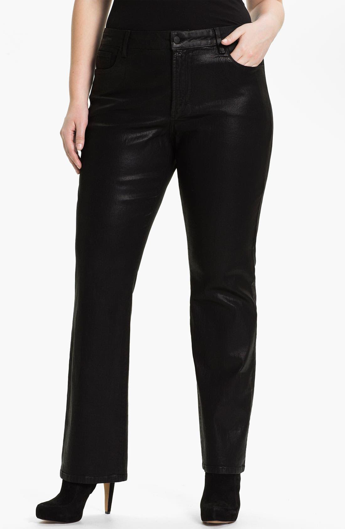 Main Image - NYDJ 'Marilyn' Coated Bootcut Jeans (Plus)