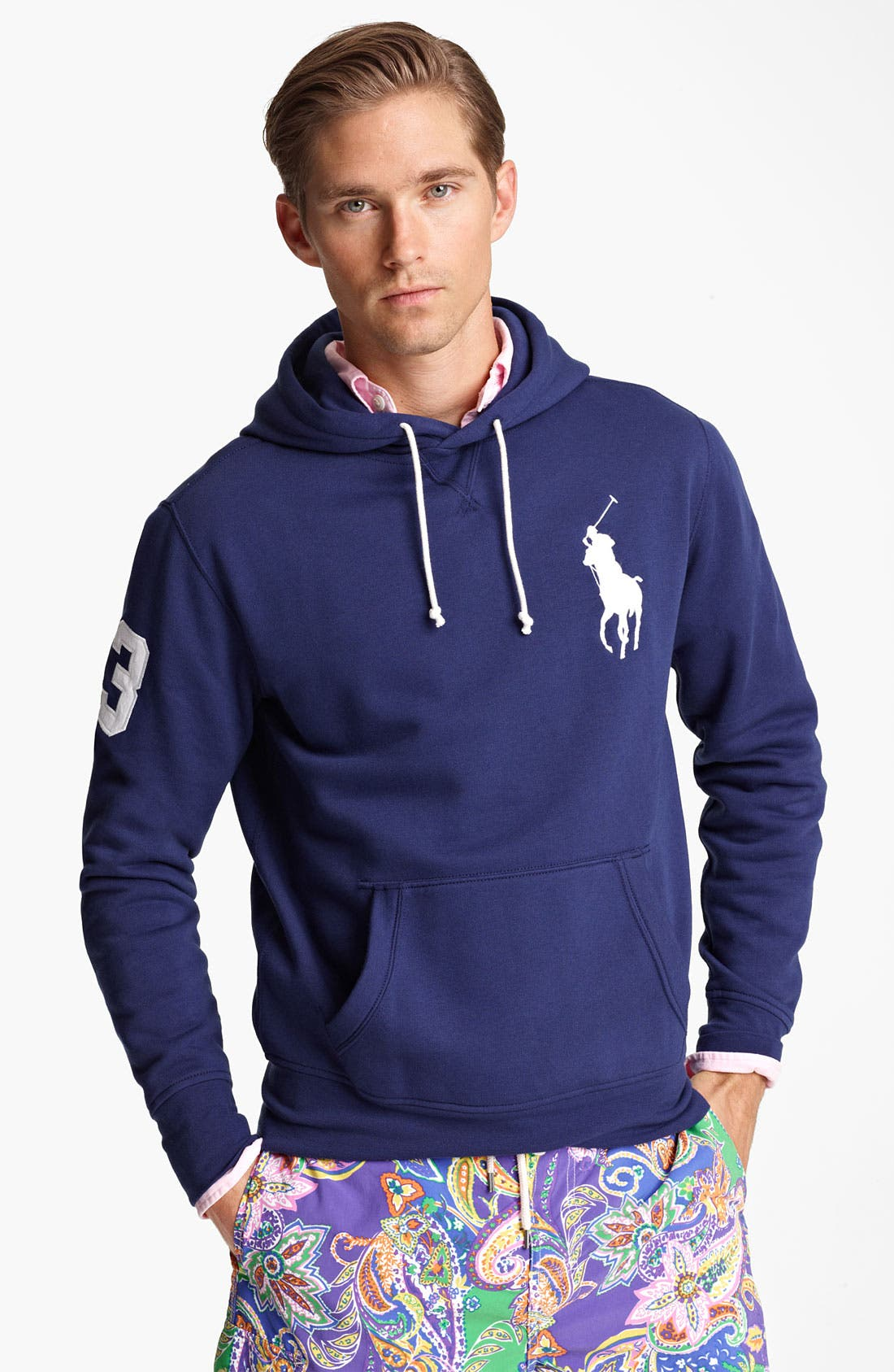 Alternate Image 1 Selected - Polo Ralph Lauren Fleece Hoodie