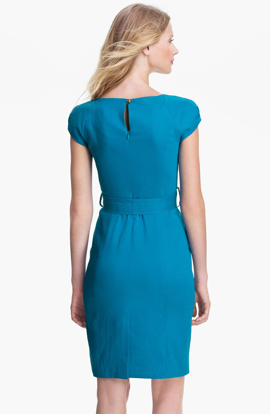 Alternate Image 2  - Milly 'Slim Haley' Linen Blend Sheath Dress